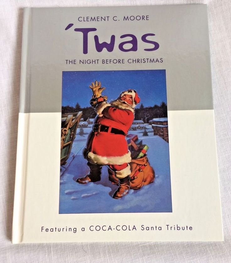 Coca Cola Santa Tribute Twas the Night Before Christmas Clement C Moore Book #CocaCola