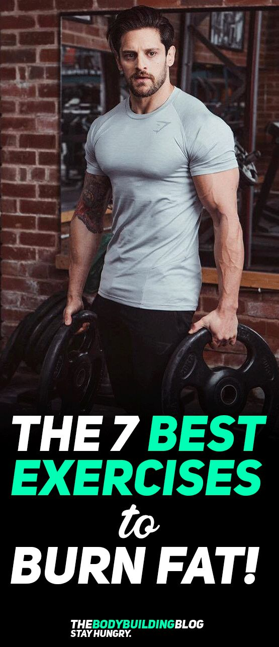 Check out The 7 Best Exercises to Burn Fat! #fitness #exercise #workout #cardio