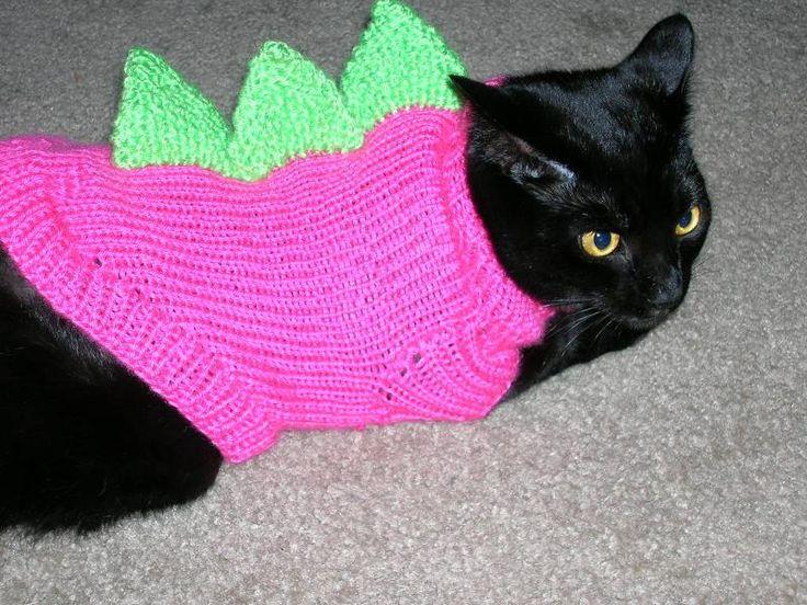 Dino Cat Sweaters~~I am sooooo making this for Kitty!!!