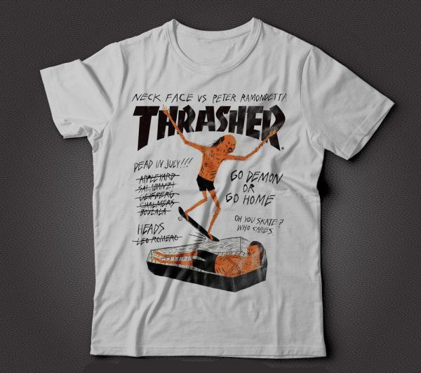 Thrasher Magazine Neck Face Vs Peter Ramondetta T-Shirt  975543f1ce