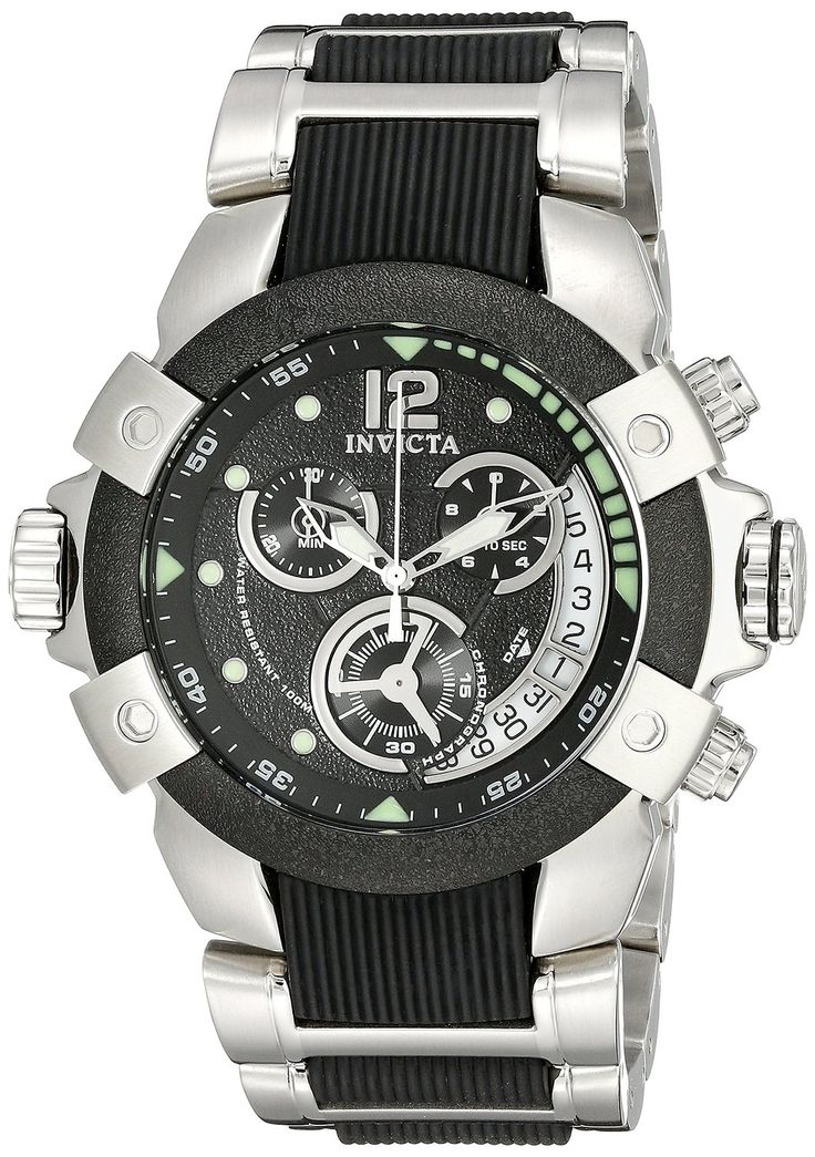 Invicta Men's 6303 Specialty Collection Chronograph Stainless Steel Watch.  Bringing you the best luxury watches online at the most affordable prices for premium brand name watches: http://www.bestwatches1st.com/#!invicta-specialty-watch-collection/wiemg