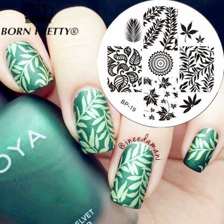 BORN PRETTY Leaves Theme Nail Art Stamp Template Image Plate BP19