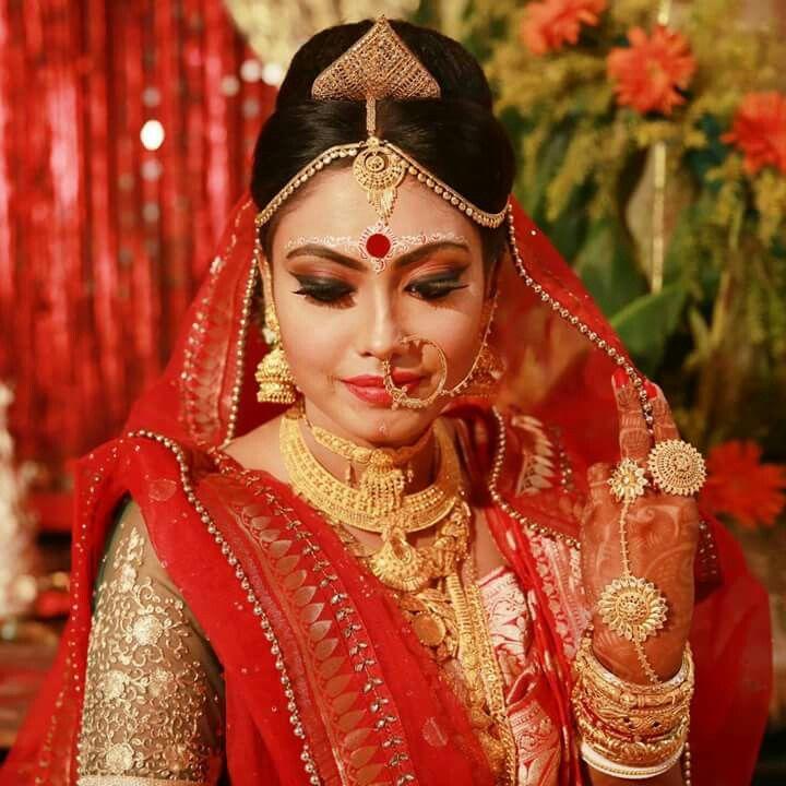 Beautiful bengali bridal makeup
