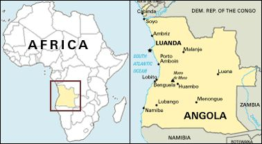 Portugese Angola map_africa