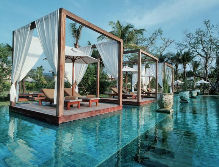 Exciting modern resort offering tropical swimming pool for Swimming pool cabanas