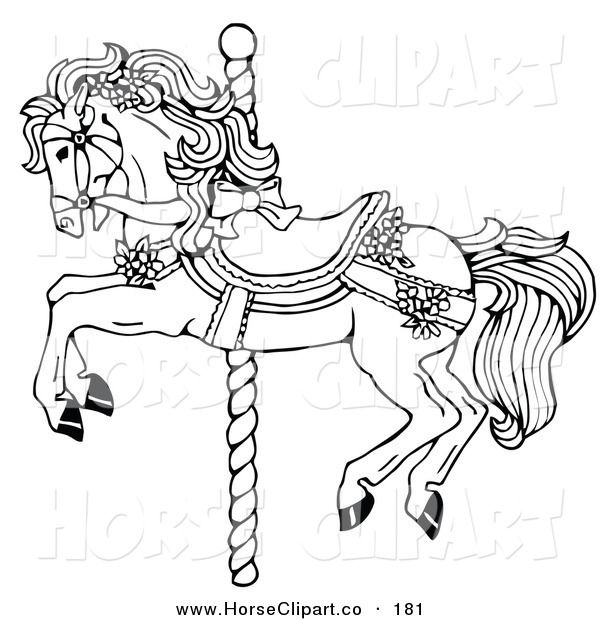 Carousel horse coloring page