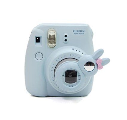 [Fujifilm Instax Mini 7s Mini 8 Selfie Lens] -- CAIUL Rabbit Style Instax Close Up Lens with Self-portrait Mirror For Fujifilm Instax Mini 8 mini 7s Camera and Polaroid 300 (Blue)