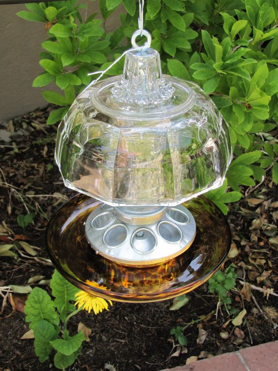 17 best images about glass bird baths on pinterest for Garden art from old dishes