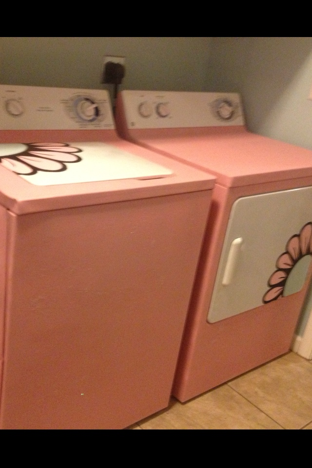Painted washer and dryer, maybe not these colors.....but like the concept