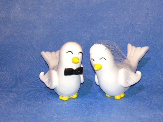 Polymer Clay Doves