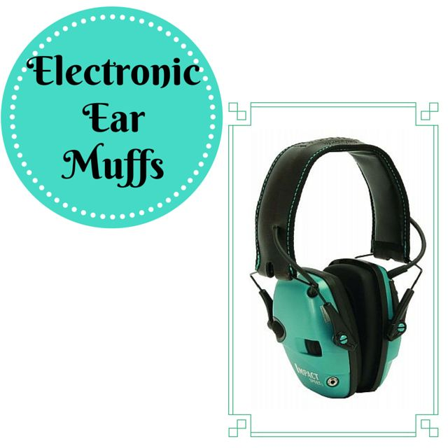 Howard Leight Impact Sport Electronic Ear Muff - Olive or Teal. http://thewellarmedwoman.com/range-supplies/eye-and-ear-protection/howard-leight-impact-sport-electronic-ear-muff