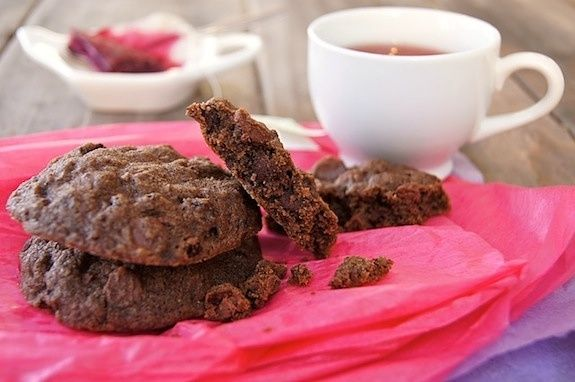 Wild Blackcurrant Chocolate Cookies