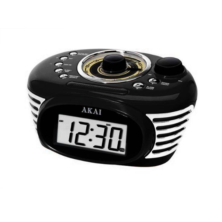 Akai Retro Alarm Clock Radio-Black