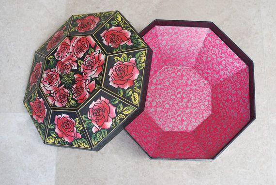 basket storage rose by koreanpaperart7 on Etsy