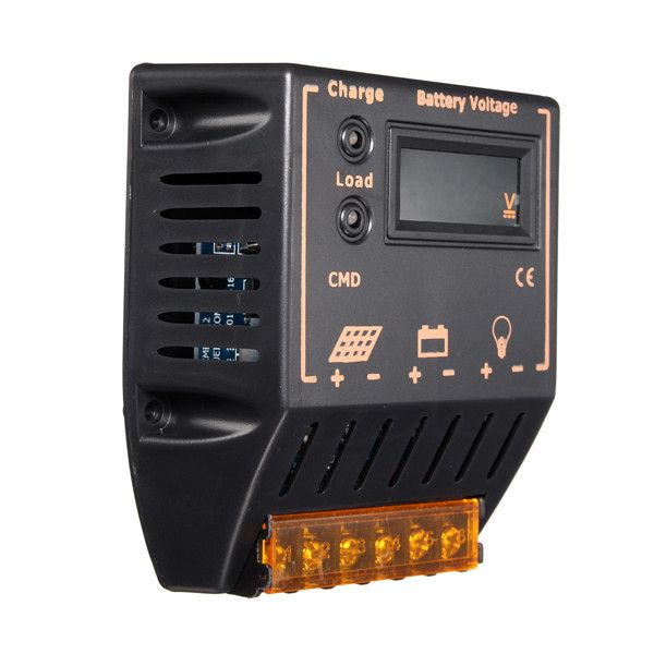 Lcd contrôleur de charge 12V / 24V autoswitch régulateur de la batterie de panneaux solaires