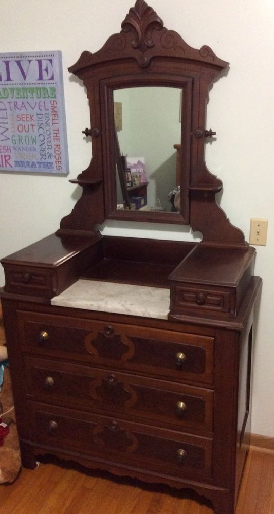Due To The Size This Dresser Will Be Local Pick Up Only The Mirror On Top Swivels All The