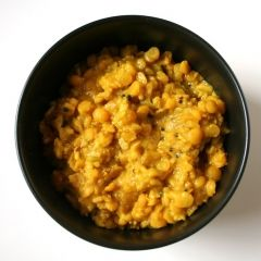 Kitchari - Kitchari is the food Indian mothers give to children who are feeling poorly.  It is the perfect dish to have on hand for days when you might feel tired, slightly queasy, or low on energy. It is relatively simple to make, easy to digest, and adaptable to whatever you have on hand. Make a big batch of kitchari to freeze in portions for when you need it. Eat it as is, or spruced up with other vegetables, such as sautéed kale or spinach.