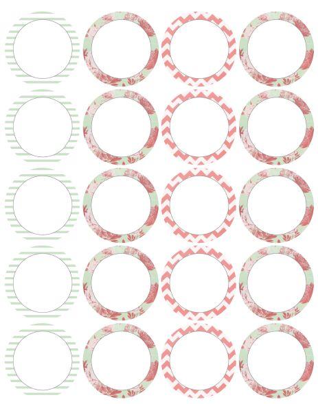 Etiquetas redondas para imprimir - Imagui