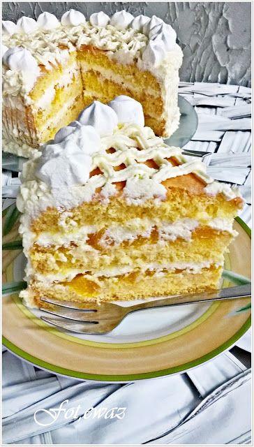 Ewa w kuchni: Tort dyniowo - śmietanowy