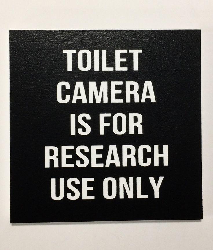 TOILET CAMERA, Funny Bathroom Signs, Bathroom Sign, Bathroom Humor, Wall Sign, Funny Bathroom Art, Snarky, Wall Decor, 8x8 or 12x12 by 2TreesStudios on Etsy https://www.etsy.com/listing/500390342/toilet-camera-funny-bathroom-signs