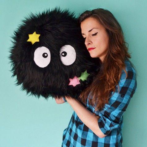 Most Wanted: Totoro Soot Sprite Pillow – Super Cute Kawaii!!