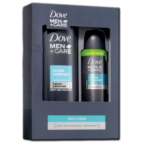 """Dove MEN Geschenkset """"Clean Comfort"""" - Showergel 250ml + Deodorant Spray 75ml Compressed 8710908221583"""