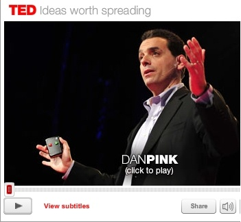 daniel pink essay Daniel pink is no stranger to the new york times best-seller list, and his latest book, drive: the surprising truth about what motivates us, is no exception.