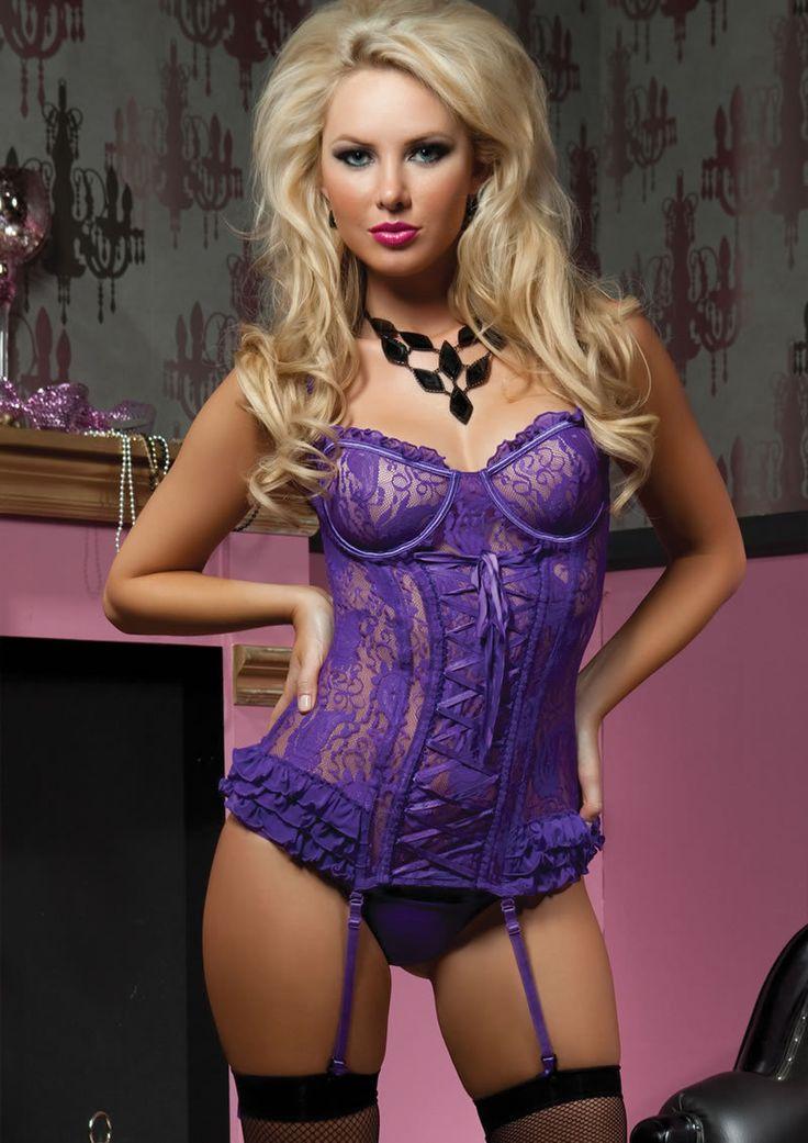 Paisley Pleasure 2pc Bustier-purple-sm