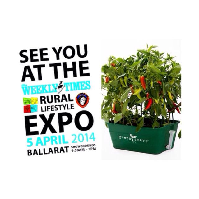 GreenSmart Pots will be at the Weekly Times Rural Lifestyle Expo this Saturday 5th April at the Ballarat Showgrounds from 9:30am-5pm!  There'll be speakers, demos and plenty of stalls showcasing a wide range of products from sustainability, organic and gardening, food and wine, plants, seeds, pastures and more.   Greensmart Pots will also be running a discounted show special so make sure you don't miss out ;)  For more info please visit: http://rurallifestyleexpo.org.au
