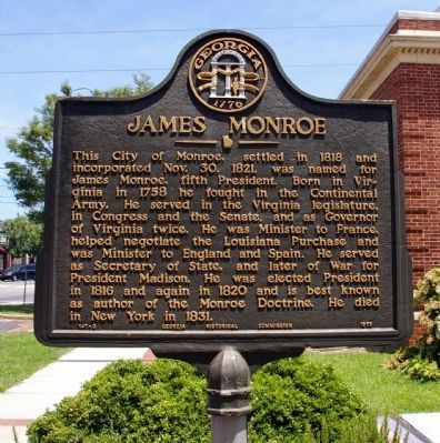 James Monroe Marker. Click for full size.