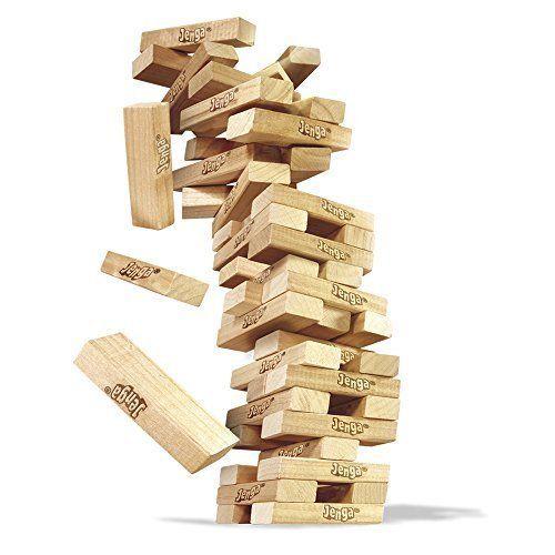 Classic Jenga Block-Balancing Game - Family Game Night 54 Hard Wood Blocks Tower #Hasbro