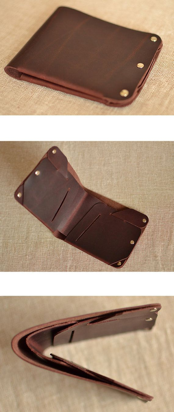 Mens Leather Wallet handmade wallet vintage Slim by Yesterwish-SR