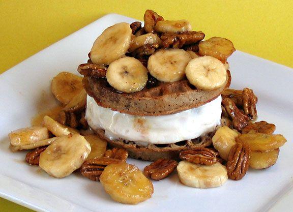 banana waffles | Waffle Mania | Pinterest