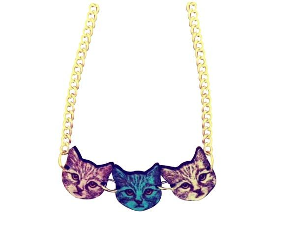 three kitty faces #cat #necklace by Love Ikandi, a Queensland based business. All jewellery is designed and made in Australia.