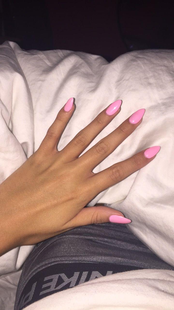 pink almond nails nike
