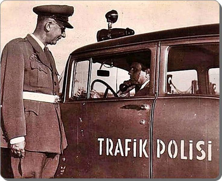 ''alkollü değilim memur bey!''F: Trafik Polisi - 1950'ler #istanbul #istanlook
