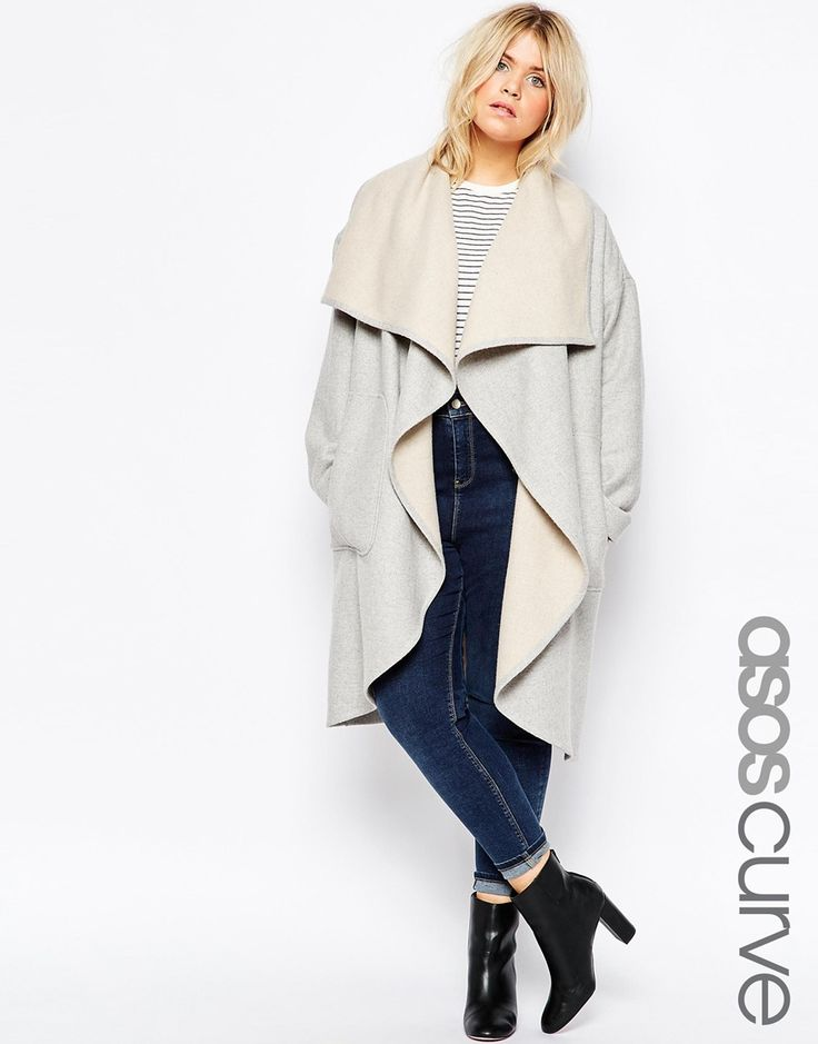 ASOS CURVE Oversized Waterfall Coat