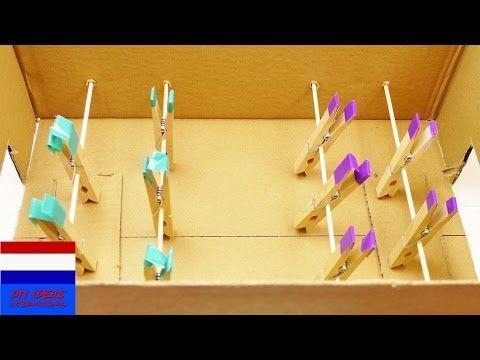 zelf tafelvoetbalspel maken | handleiding voor kinderen | tafelvoetbal zelf knutselen - YouTube