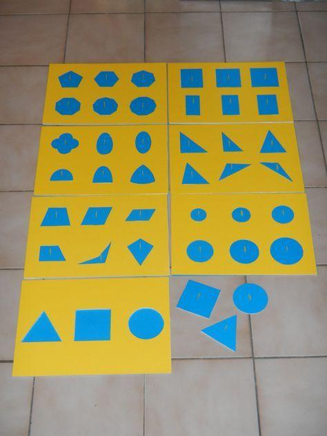 Imprimer le cabinet de géométrie gratuit A4 Montessori