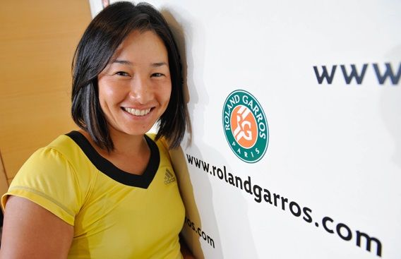 Kimiko Date-Krumm at Roland Garros.