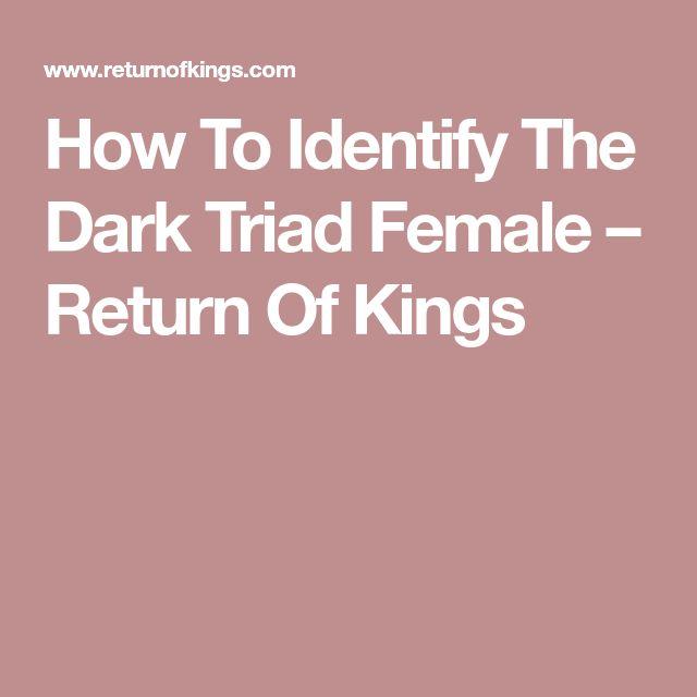How To Identify The Dark Triad Female – Return Of Kings