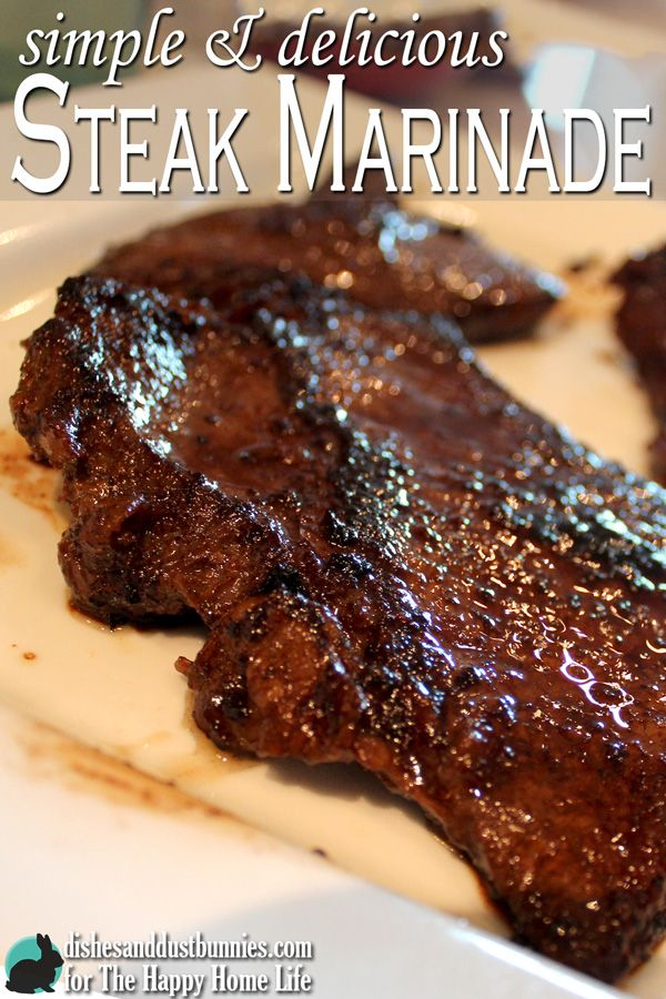 Simple and Delicious Steak Marinade