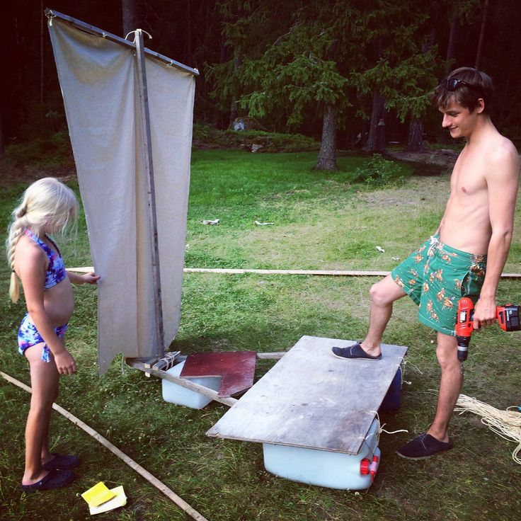 """""""Meanwhile in Sweden, Oscar is building his little sister a raft! I told him to stop being so adorable so I can focus on my blog. He told me girls make the best Vikings, but they have to start young."""" - https://www.facebook.com/carolinecallowaydotcom/photos/pb.176569062526763.-2207520000.1460745928./274629872720681/?type=3&theater"""