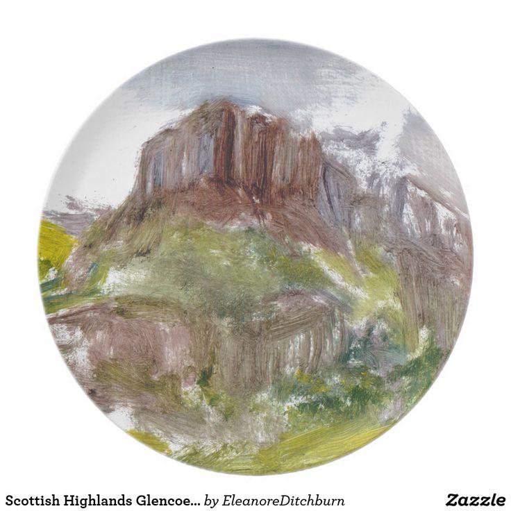Scottish Highlands Glencoe Melamine Plate