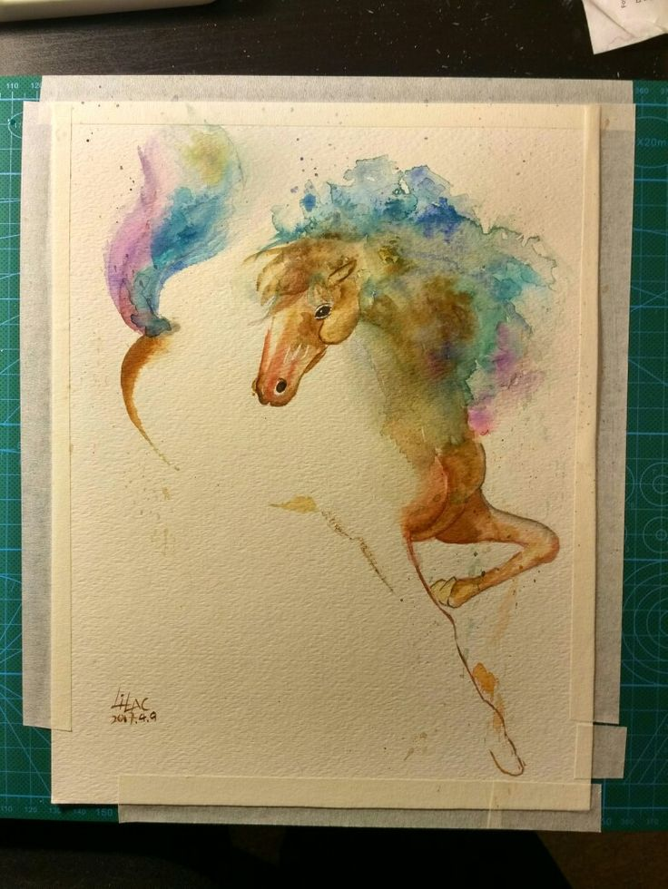 #watercolor #horse