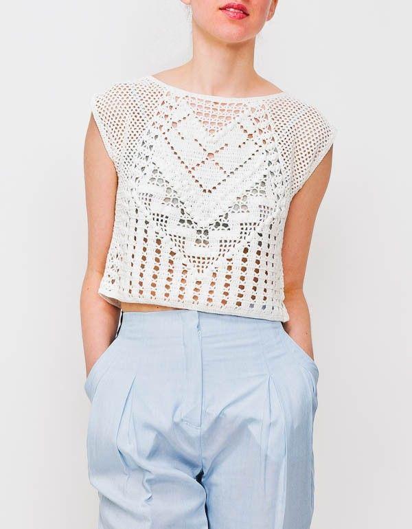 Lauren Moffatt Crochet Crop Top