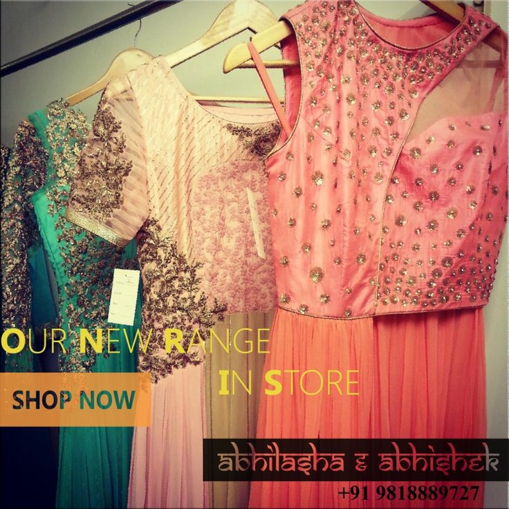 Shop our new collection of formal & indo western dresses  #summerlove #aqua #newcollection #abhilashaabhishek