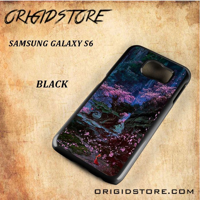 Cherry Blossom Painting Black White Snap On Or 3D For Samsung Galaxy S6
