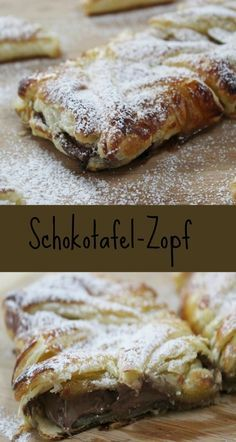 Leckerer Schokotafelzopf | Schokostrudel http://www.the-inspiring-life.com/2015/12/schokotafel-zopf.html #Schokostrudel #Zopf #Blätterteig