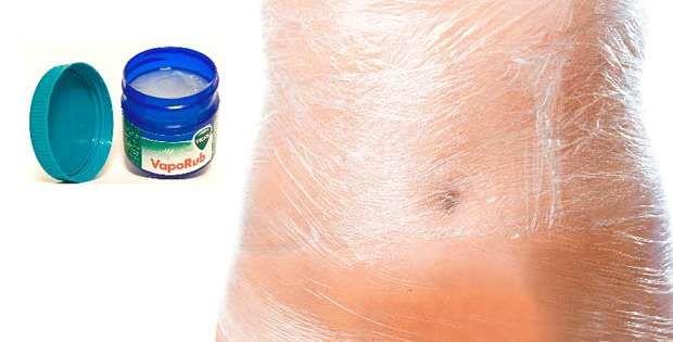 Vicks Vaporub para reducir el abdomen rápido!